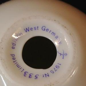 Vtg Easter egg porcelain blue floral W.Germany